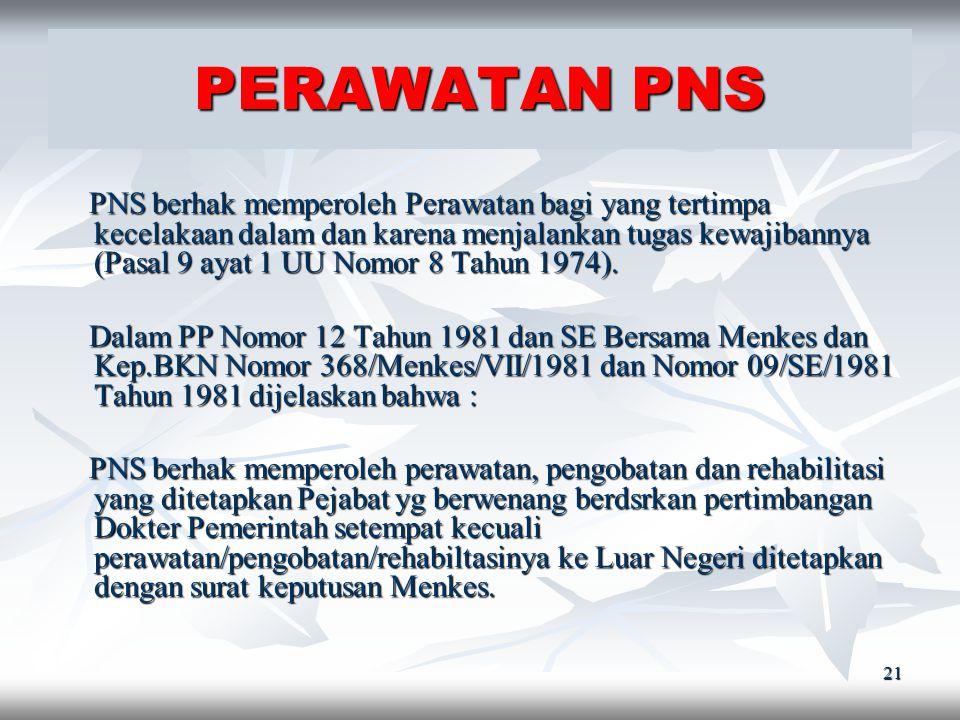 20 CUTI DILUAR TANGGUNGAN NEGARA ( SE Kep.BKN Nomor 01/SE/1977 ) 1. PNS yg bekerja minimal 5 tahun secara terus menerus. 2. Karena alasan penting dan