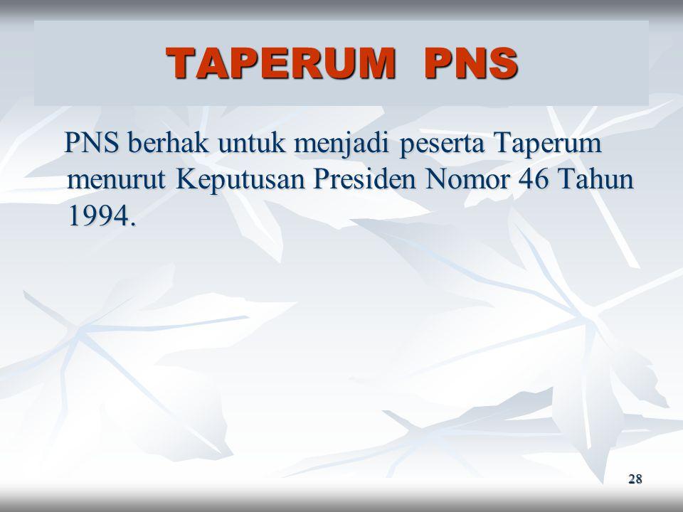 27 ASKES PNS PNS berhak untuk menjadi peserta Askes menurut Keputusan Presiden Nomor 8 Tahun 1977. PNS berhak untuk menjadi peserta Askes menurut Kepu