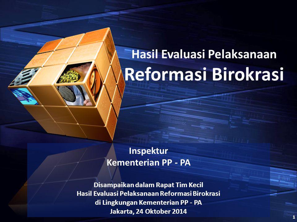 Inspektur Kementerian PP - PA Disampaikan dalam Rapat Tim Kecil Hasil Evaluasi Pelaksanaan Reformasi Birokrasi di Lingkungan Kementerian PP - PA Jakar