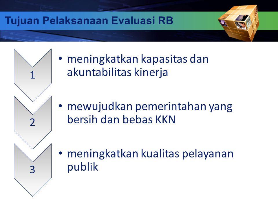 18 1 meningkatkan kapasitas dan akuntabilitas kinerja 2 mewujudkan pemerintahan yang bersih dan bebas KKN 3 meningkatkan kualitas pelayanan publik Tuj