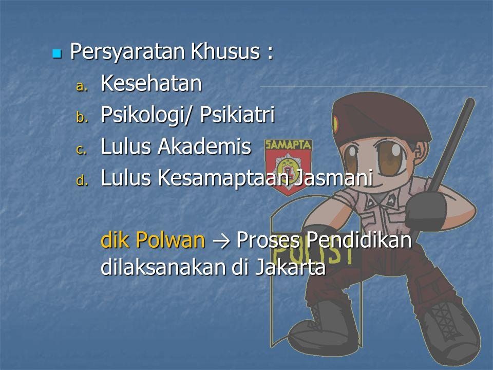 2.CPNS (PNS POLRI) Persyaratan Umum Persyaratan Umum a.