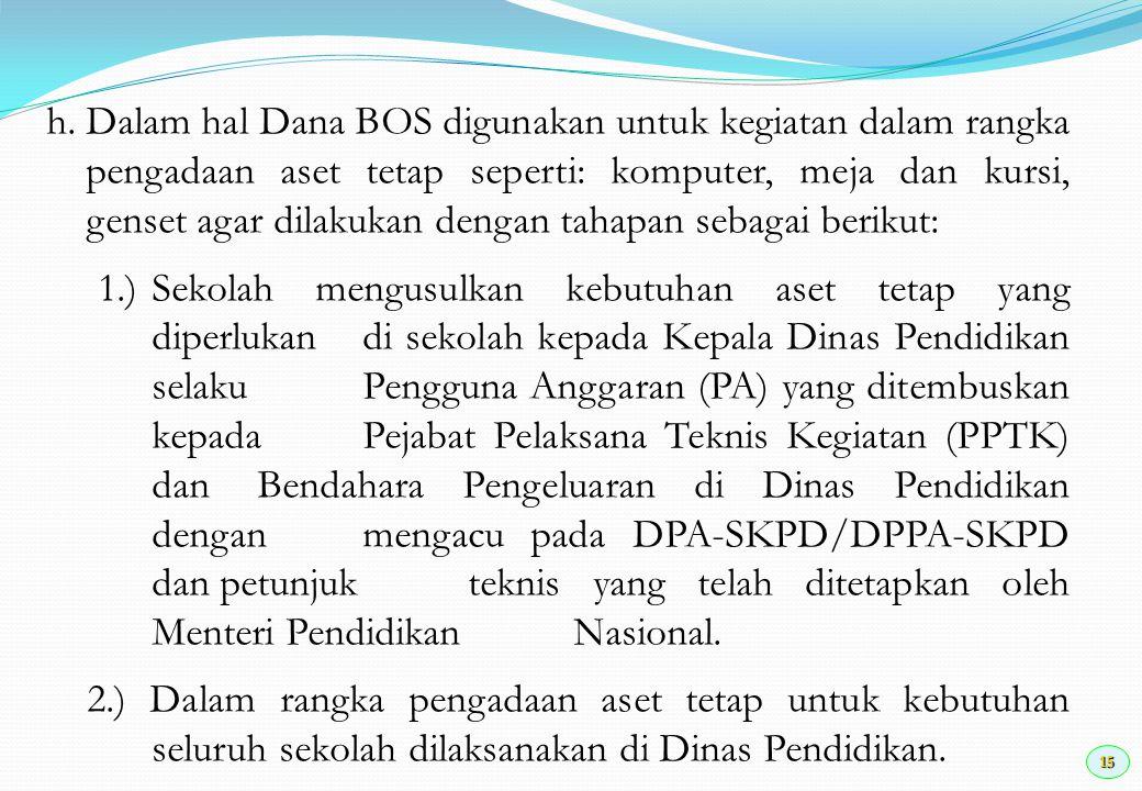16 3.) Proses pengadaan aset tetap tersebut mengacu pada mekanisme dan prosedur pengadaan barang dan jasa Instansi Pemerintah sebagaimana diatur dalam peraturan perundang-undangan.