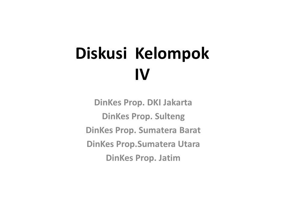 Diskusi Kelompok IV DinKes Prop. DKI Jakarta DinKes Prop.