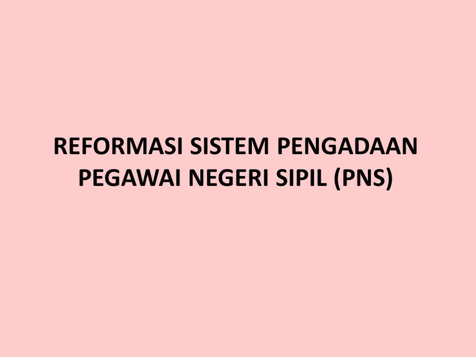 7 Program RB Bidang SDM Aparatur 1.Penataan Jumlah, Distribusi dan Kualitas PNS; 2.Sistem Seleksi CPNS; 3.Promosi secara Terbuka; 4.Penguatan Sistem D