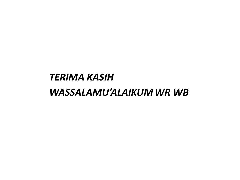 TERIMA KASIH WASSALAMU'ALAIKUM WR WB