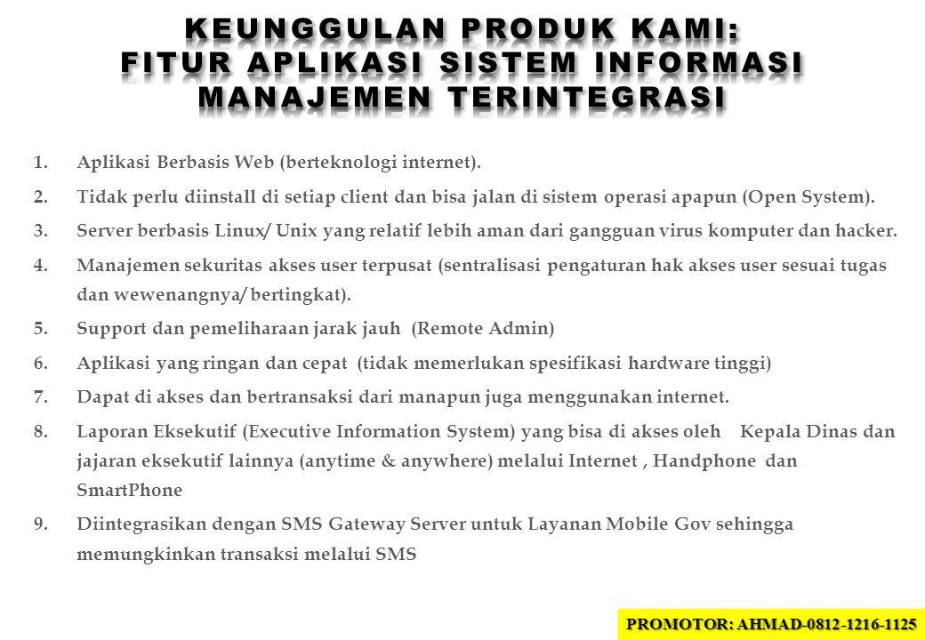 1.Aplikasi Berbasis Web (berteknologi internet).
