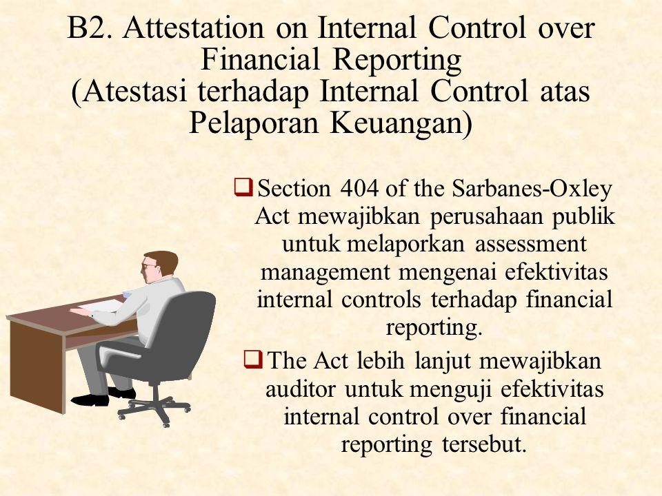 B1. Audits of Historical Financial Statements (Audit Laporan Keuangan Historis)  Audit Laporan Keuangan Historis adalah bentuk attestation dimana aud