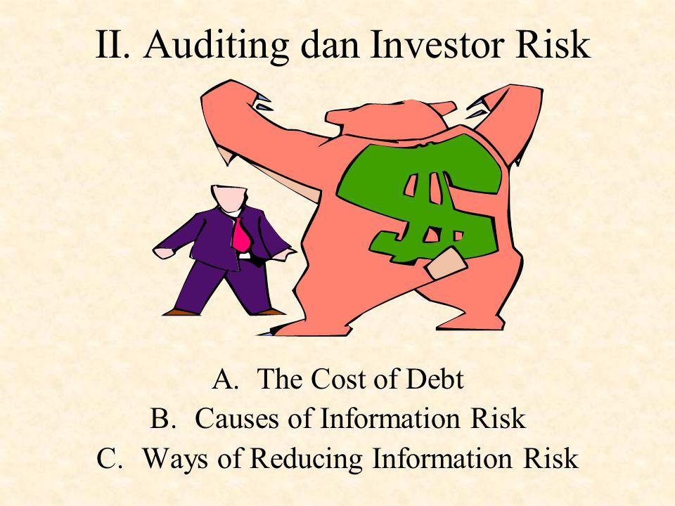 D. Tipe-tipe Auditor  External atau Independent Auditor (CPA/Akuntan Publik) – auditor yang diijinkan untuk melaksanakan financial statement audit. 