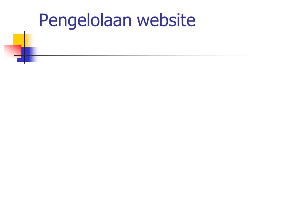 Pengelolaan website
