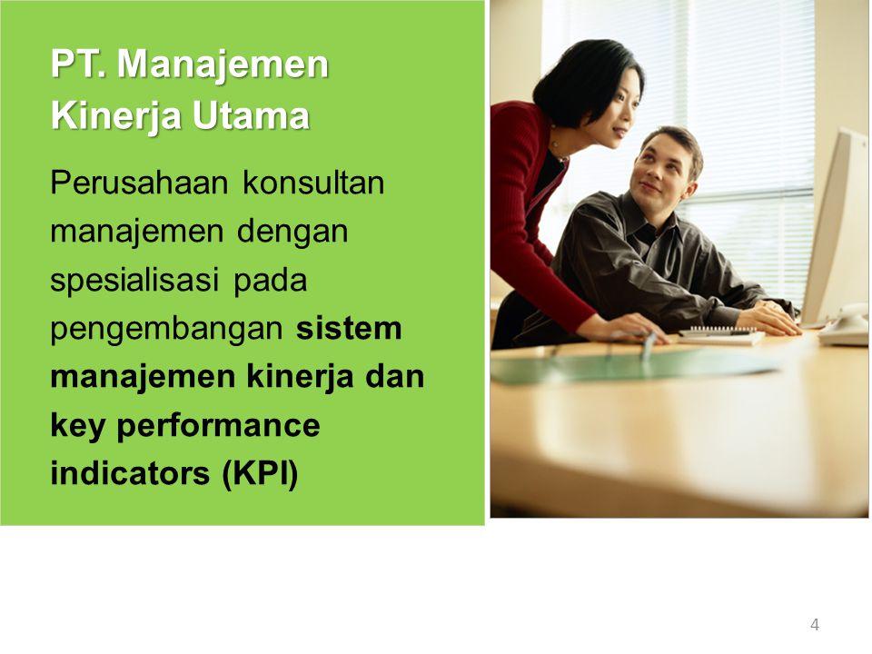 Sampel Projek 15 Projek Pengembangan Key Performance Indicators untuk para karyawan di sebuah Financing Company terbesar di tanah air.