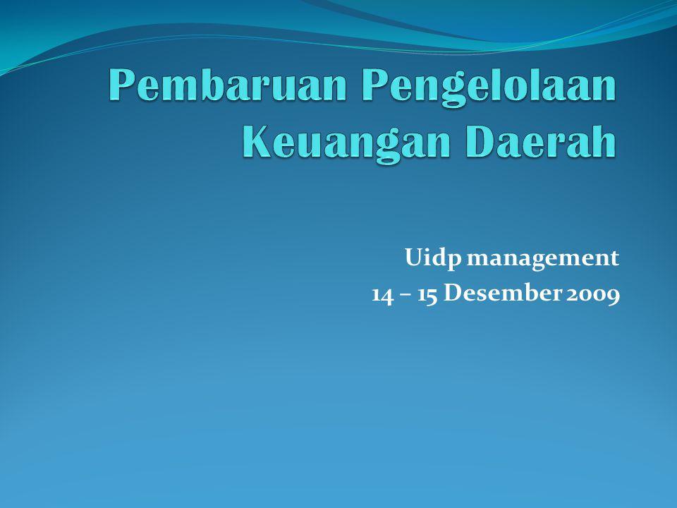 Uidp management 14 – 15 Desember 2009
