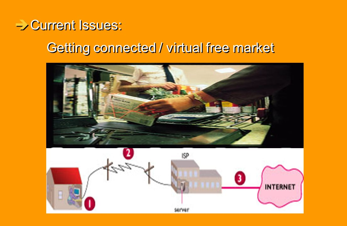 èCurrent Issues: Getting connected / virtual free market