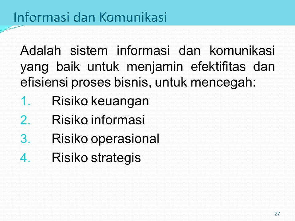 Aktivitas Pengendalian Prosedur standar dan praktik pelaksanaan tugas untuk mengatasi ancaman bisnis, misalnya: Prosedur otorisasi transaksi: otorisas