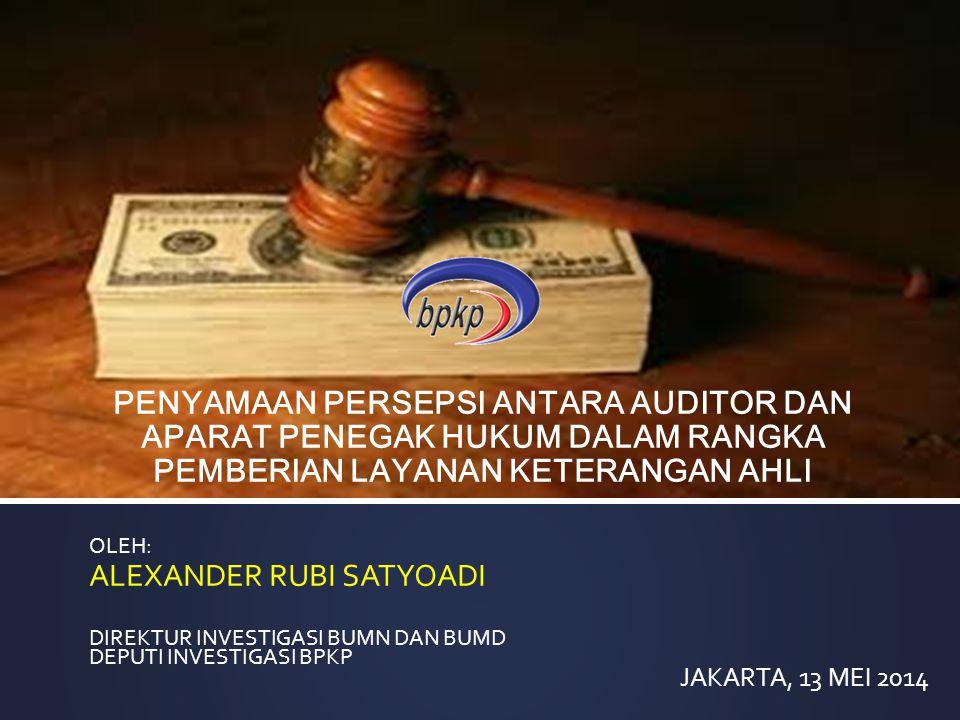 TUSI BPKP (Keppres 103/2001 Pasal 52, 53 dan 54) melaksanakan tugas Pemerintahan di bidang pengawasan keuangan dan pembangunan sesuai dengan ketentuan peraturan perundang-undangan yang berlaku.