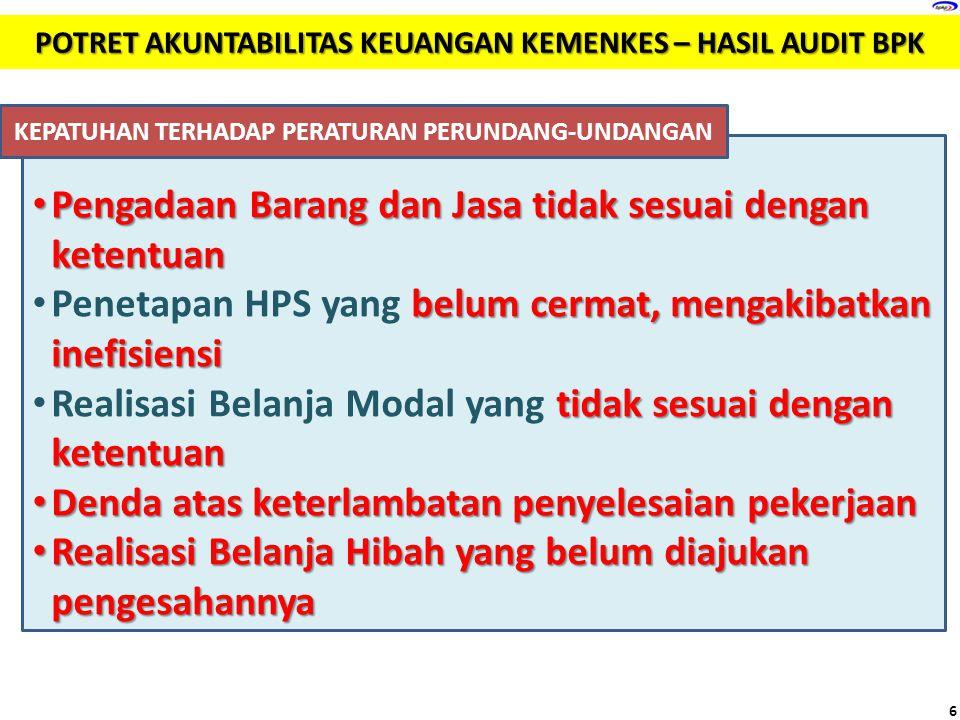 Pengadaan Barang dan Jasa tidak sesuai dengan ketentuan Pengadaan Barang dan Jasa tidak sesuai dengan ketentuan belum cermat, mengakibatkan inefisiens