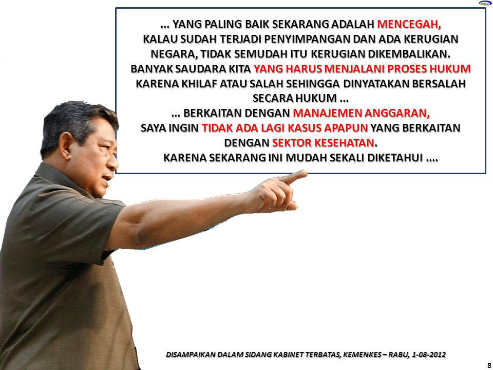 INDONESIA YANG BERSIH, AKUNTABEL, & BEBAS DARI KORUPSI KOMITMEN....