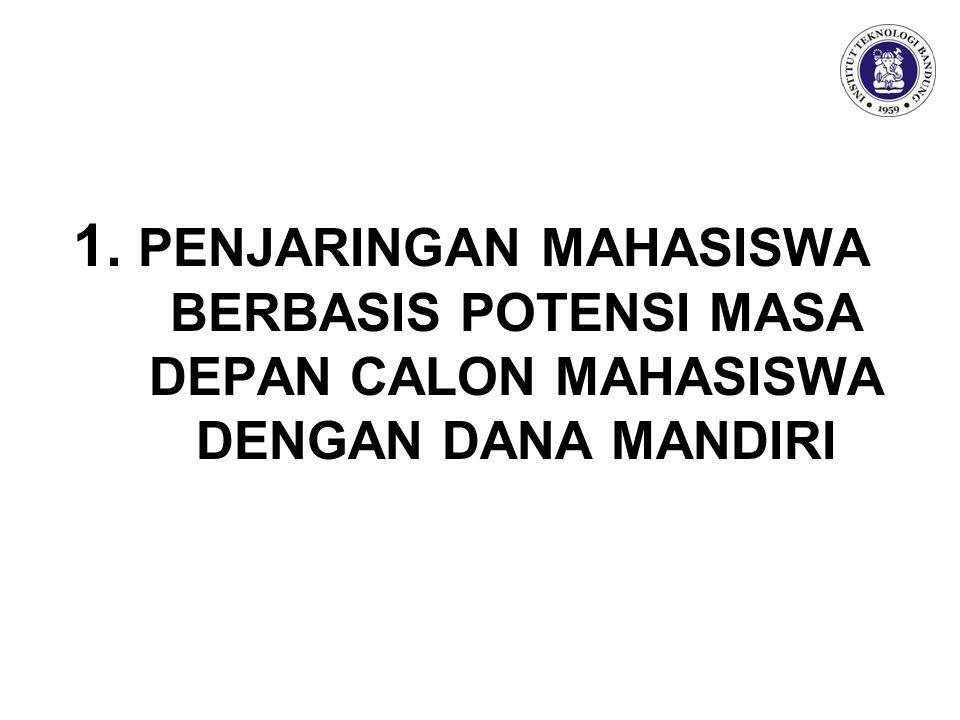1. PENJARINGAN MAHASISWA BERBASIS POTENSI MASA DEPAN CALON MAHASISWA DENGAN DANA MANDIRI