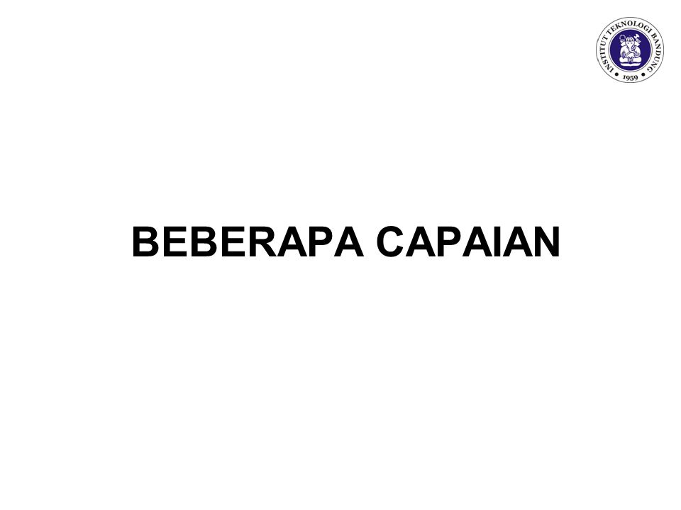 BEBERAPA CAPAIAN
