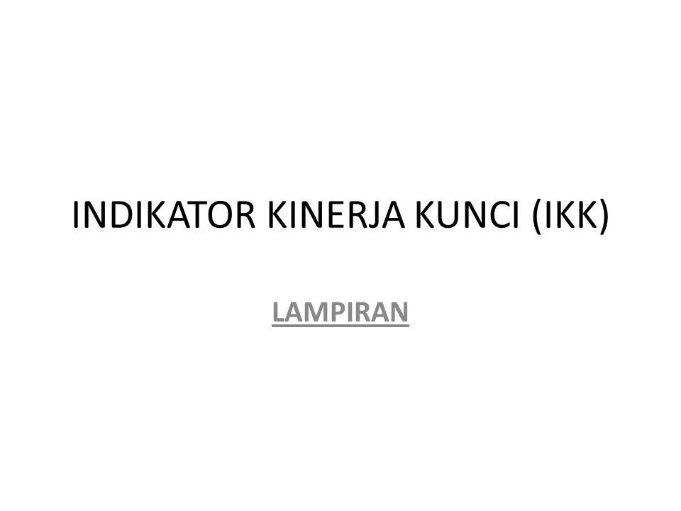 INDIKATOR KINERJA KUNCI (IKK) LAMPIRAN