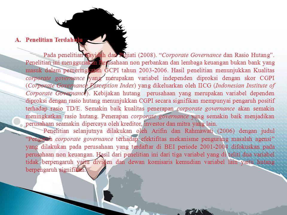 1.Pengertian Corporate Governance a.