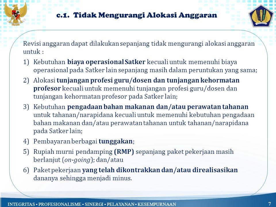 INTEGRITAS PROFESIONALISME SINERGI PELAYANAN KESEMPURNAAN 17 a.