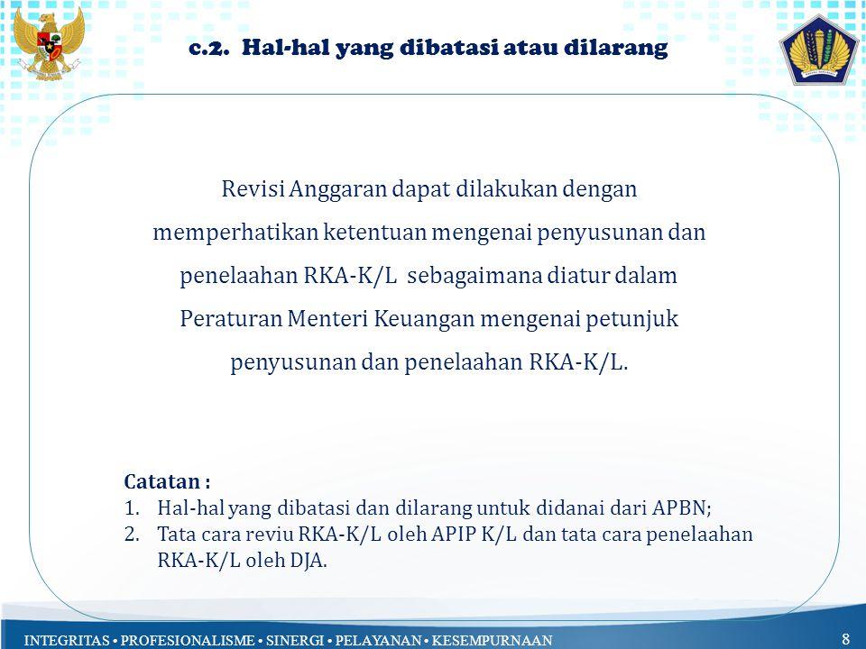 INTEGRITAS PROFESIONALISME SINERGI PELAYANAN KESEMPURNAAN 18 a.