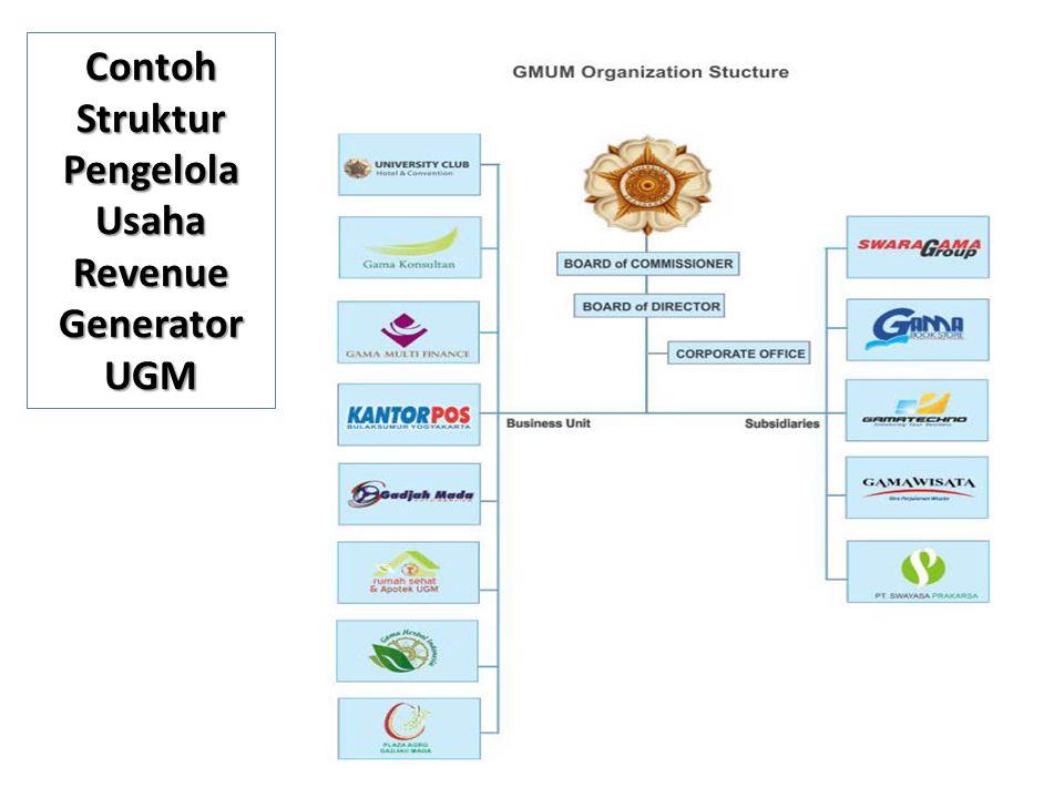 Contoh Struktur Pengelola Usaha Revenue Generator UGM