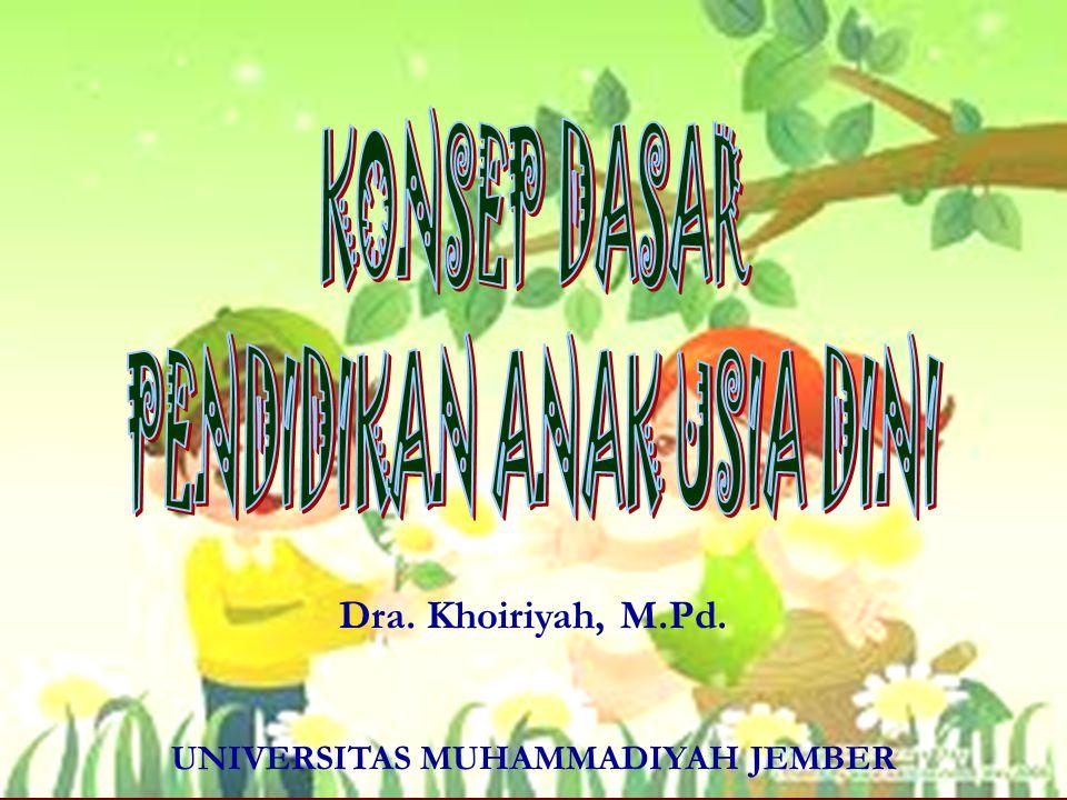 Dra. Khoiriyah, M.Pd. UNIVERSITAS MUHAMMADIYAH JEMBER