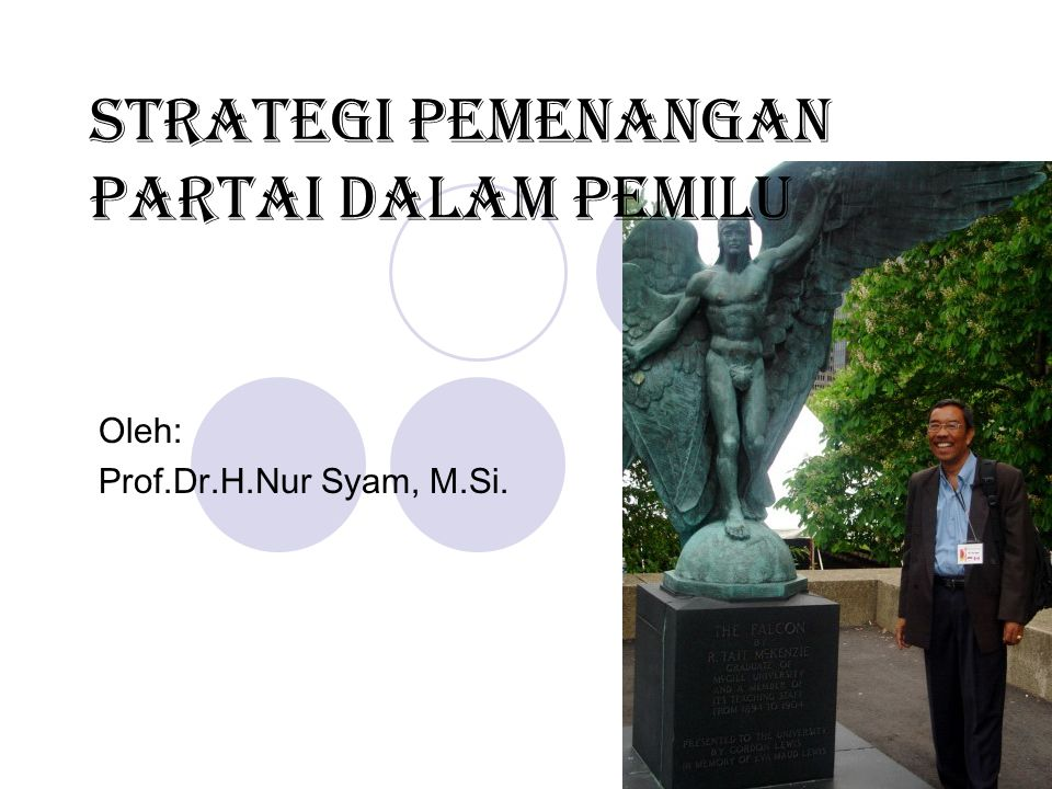 Strategi Pemenangan Partai Dalam Pemilu Oleh: Prof.Dr.H.Nur Syam, M.Si.