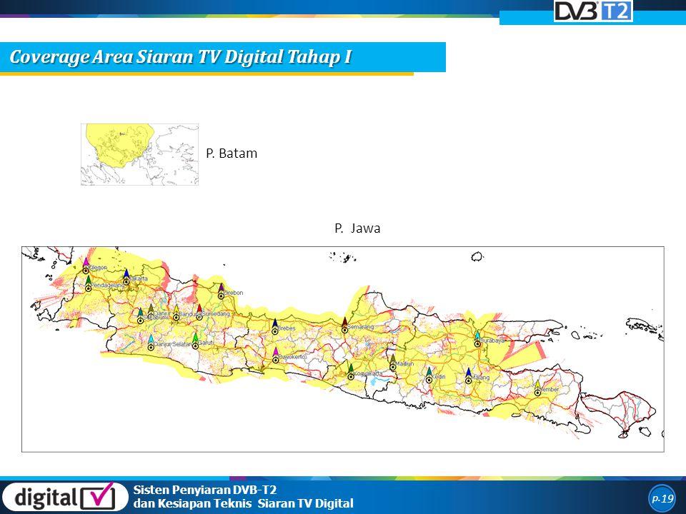 P. Batam P. Jawa Sisten Penyiaran DVB-T2 dan Kesiapan Teknis Siaran TV Digital p. 19 Coverage Area Siaran TV Digital Tahap I