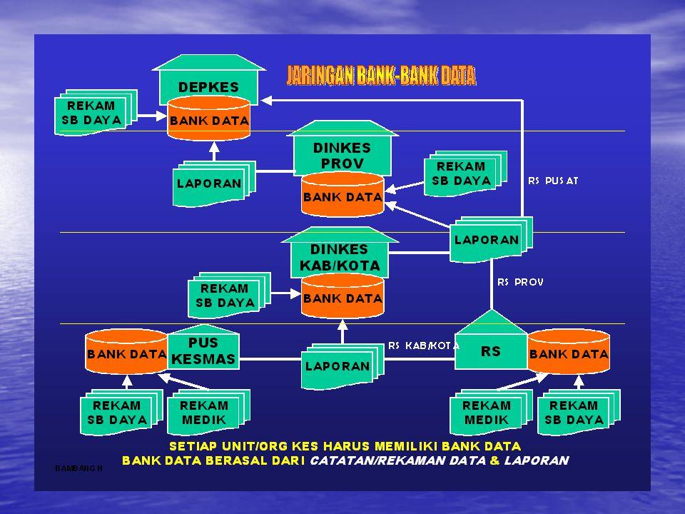 Data SDMKes di Kab/Kota Data Sumber Daya di Kab/Kota Data SPM Kab/Kota Program Aplikasi Pengolahan Bank Data Indikator yang diprogram Informasi untuk