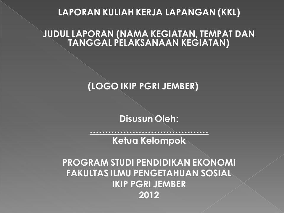  Pada sub bab ini adalah penarikan kesimpulan dari seluruh proses kegiatan KKL yang telah dilakukan oleh mahasiswa.