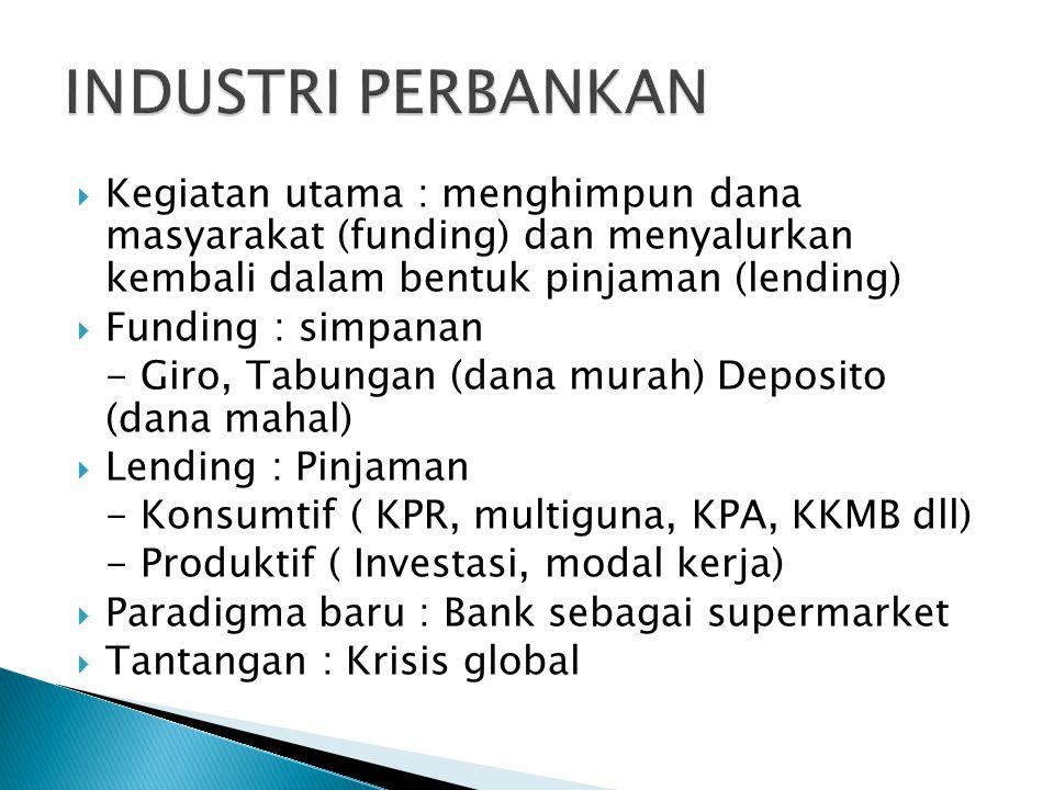  Resiko kredit : Non performing loan (NPL)  Resiko likuiditas : penempatan dana jangka panjang memperkecil resiko likuiditas.