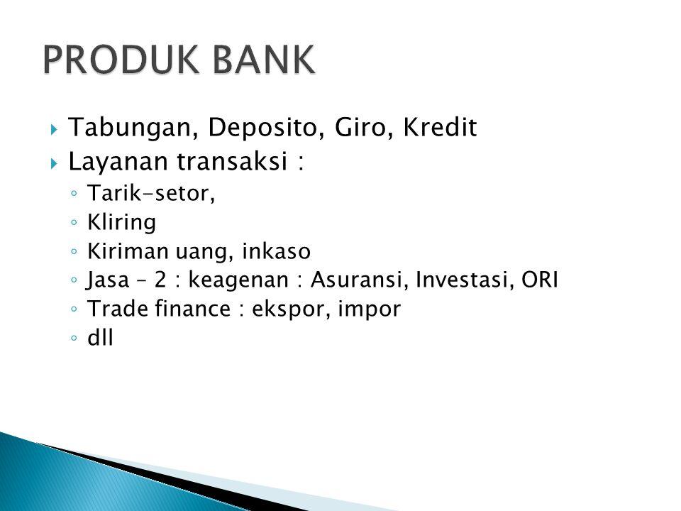 Outlet Bank : Kantor Pusat, Cabang, Capem, kantor kas  ATM  Outlet non bank : kerjasama dengan kantor pos, pln, pajak