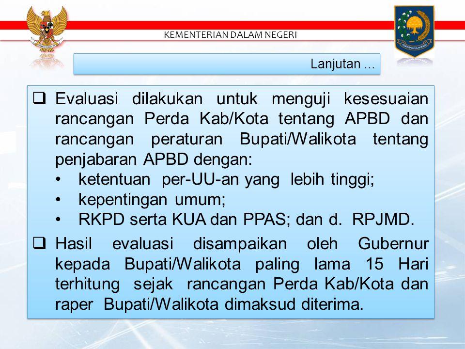  Rancangan Perda Kab/Kota ttg APBD yg telah disetujui bersama dan rancangan peraturan Bupati/Walikota tentang penjabaran APBD sebelum ditetapkan oleh