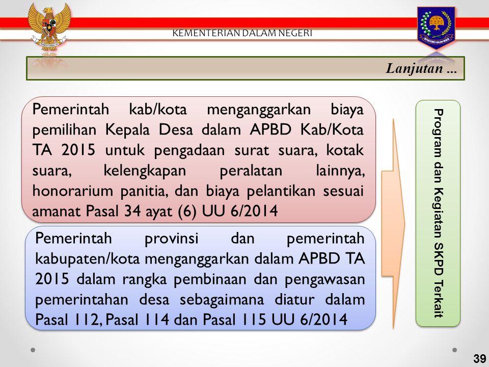 APBDes PADesaAlokasi APBN Bagian dari hasil pajak daerah dan retribusi daerah Kab/Kota ADD Bantuan Keuangan APBD Prov/Kab Hibah dan sumbangan Lain-lai