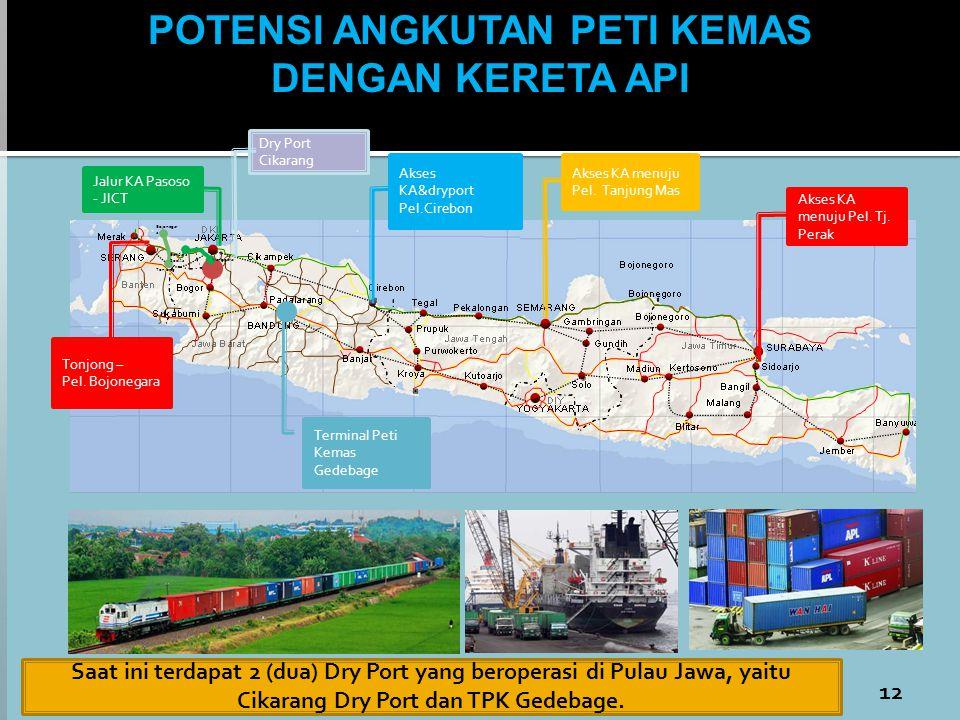 Bojonegar a Tonjong Bandara Soetta Manggarai Jalur KA Pasoso - JICT Tonjong – Pel. Bojonegara Terminal Peti Kemas Gedebage Akses KA menuju Pel. Tj. Pe
