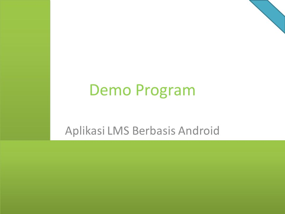 Demo Program Aplikasi LMS Berbasis Android