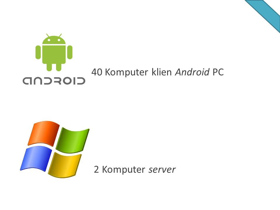 2 Komputer server 40 Komputer klien Android PC