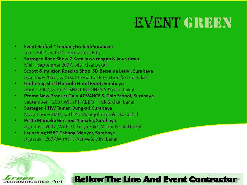 Event GREEN Event Biofuel ~ Gedung Grahadi Surabaya Juli – 2007, with PT.