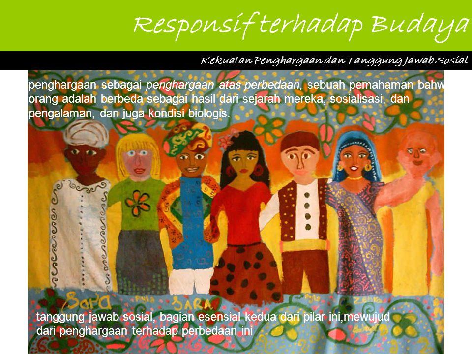 Responsif terhadap Budaya Kekuatan Penghargaan dan Tanggung Jawab Sosial penghargaan sebagai penghargaan atas perbedaan, sebuah pemahaman bahwa orang adalah berbeda sebagai hasil dari sejarah mereka, sosialisasi, dan pengalaman, dan juga kondisi biologis.