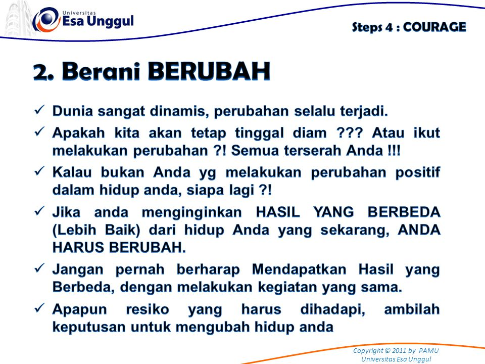 Copyright © 2011 by PAMU Universitas Esa Unggul