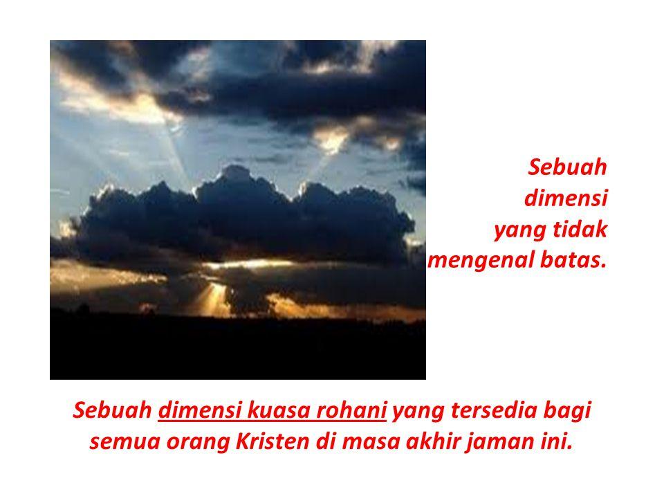 DIMENSI TERTINGGI itu adalah sebuah KESATUAN yg UTUH dan TOTAL dengan Yesus& Allah Bapa.