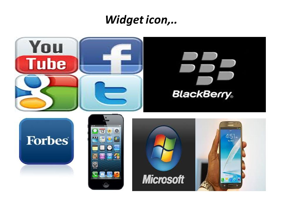 Widget icon,..