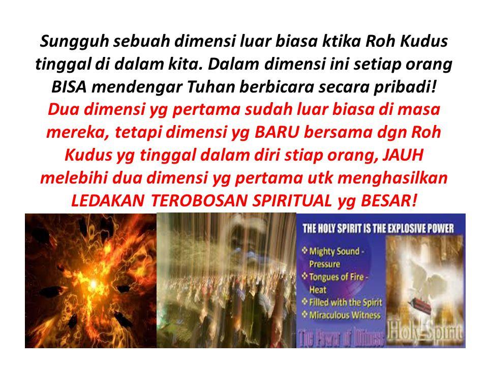 TINGGAL-LAH DI DALAM YESUS, &BIARKAN FIRMAN-NYA TINGGAL DALAM KITA,..........
