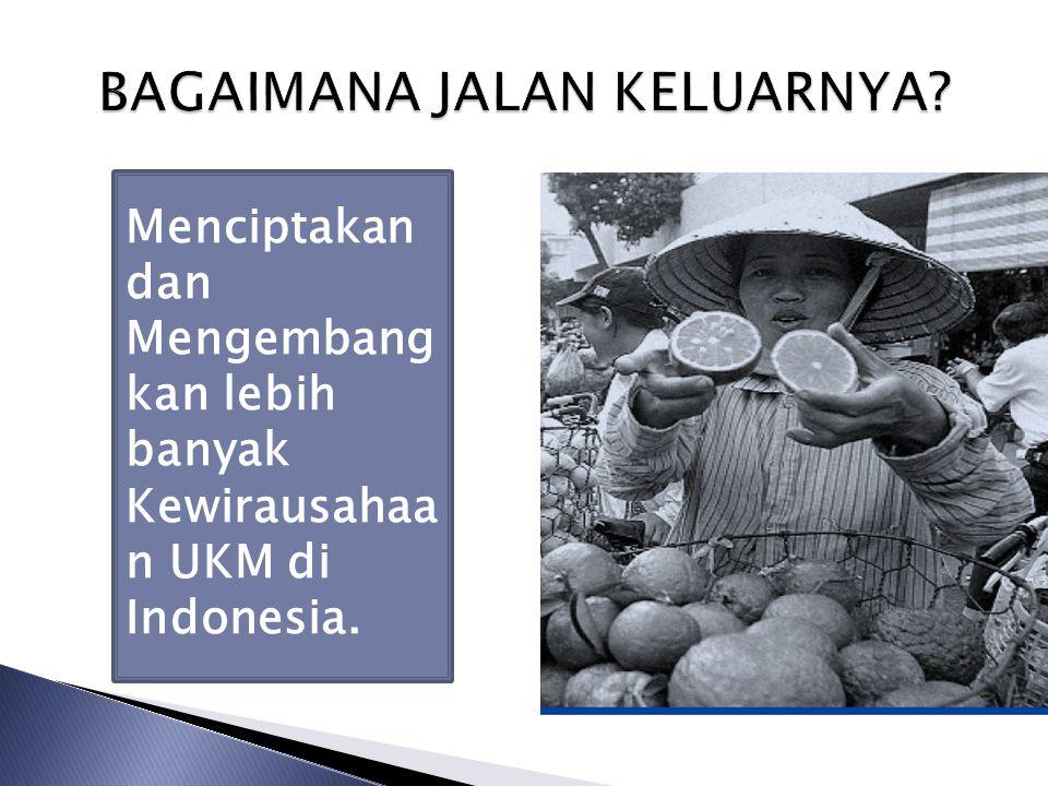 Menciptakan dan Mengembang kan lebih banyak Kewirausahaa n UKM di Indonesia.