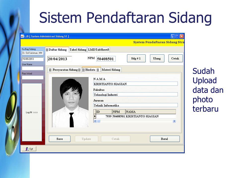 Sistem Pendaftaran Sidang Sudah Upload data dan photo terbaru