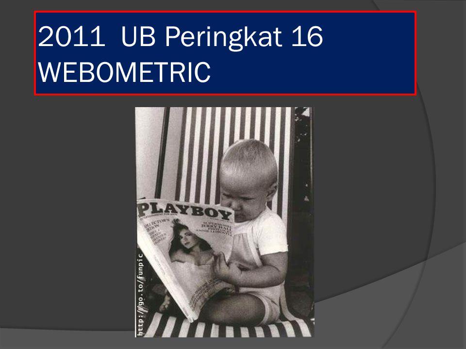 2011 UB Peringkat 16 WEBOMETRIC