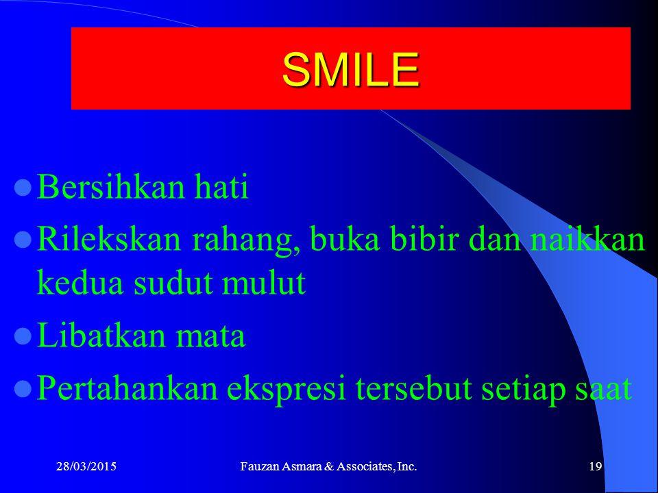 Facial Expression Sebuah penelitian melaporkan : Para wanita yang tersenyum dalam foto wisuda mereka, mempunyai kehidupan yang lebih bahagia, perkawinan yang lebih bahagia, dan lebih sedikit kendala dalam 30 tahun berikutnya.