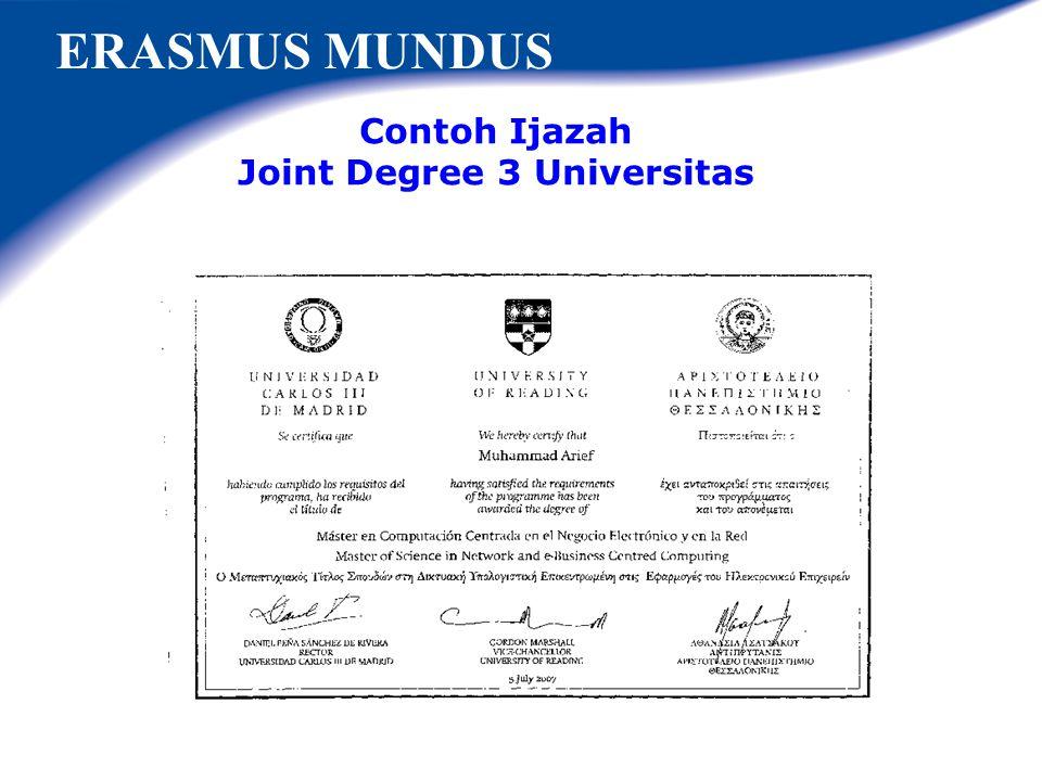 ERASMUS MUNDUS Penerima beasiswa Erasmus Mundus Indonesia Academic years Bachelor Masters Part- time Masters Full Degree PhD Part-time PhD Full Degree